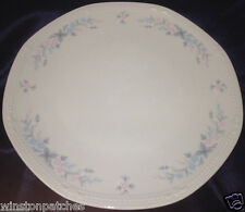 "MITTERTEICH PINK BLUE FLOWERS DINNER PLATE 11 1/4"" MULTISIDED BAVARIA GERMANY"