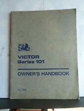 VAUXHALL VICTOR SERIES 101 OWNER'S HANDBOOK 1965 TS719/2