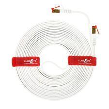 JuicEBitz® CAT7 FLAT Cable RJ45 Ethernet SFTP Thin LAN Network Patch LSZH LOT