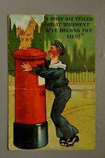 R&L Postcard: Comic, Drunk Royal Navy Sailor, Mail Postbox