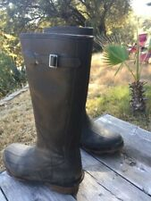 Cabelas Classic Thinsulate Tall Black Rubber Boots Size 7 Men Steel Rain Mud