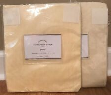 "NEW 2PC Pottery Barn Classic Voile Sheer 96"" Drape IVORY"