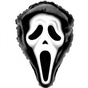 """Halloween Ghost Face Mask Balloon 28""""(70 cm) x 19""""(48cm) P@P to uk only"""