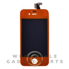 LCD Digitizer Frame Assembly for Apple iPhone 4S CDMA GSM Orange  Front Glass