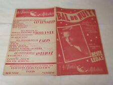 RENEE LEBAS - Partition BAL DE NUIT !!!