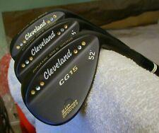CLEVELAND CG15 PORTED BLACK NITRIDE 3 WEDGE SET 52-56-60 SPINE ALIGNED BLK S300