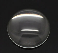 60 Clear Round Glass Dome Seals 18mm