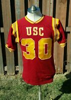 vintage 50s 60s GAME USED durene FOOTBALL JERSEY USC TROJANS COLORS red yellow S