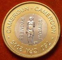 Cameroon 750 CFA francs 2005 UNC Pygmies Bi-Metallic Cameroun not legal tender