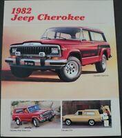 1982 Jeep Cherokee Chief Lerado AMC Original Dealer Sales Brochure