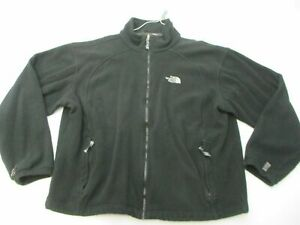 THE NORTH FACE Fleece Men's Size L Casual Hiking Warm Zip-Up Black Jacket