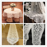 White Vintage Lace Tablecloth Floral Table Runner Cloth Cover Wedding Party
