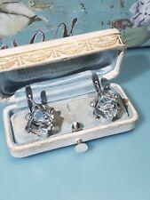 Phantastische Ohrringe Silber 900, ausgefallen, besetzt mit Bergkristall Quader