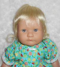 Mini World SWEETNESS Doll Wig Size 12/13 ~PALE BLONDE~Full Cap~Modacrylic Hair