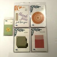 Lot 5 QuicKutz Cutting Dies: Library Pocket, Daisy, Thanks, Circles, Mini Album