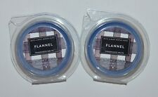 2 BATH & BODY WORKS FLANNEL WAX MELTS TART CANDLE REFILL BLUE AUTUMN BERGAMOT