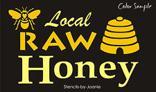 Primitive Joanie Stencil Local Raw Honey Bee Hive Skep Country Farm Market Sign