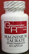 NEW Magnesium Taurate 125mg 60caps by Cardio Research Ltd.