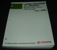 Werkstatthandbuch Toyota Land Cruiser Prado RZJ120 LJ120 KZJ120 KDJ120 von 2002