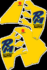 Suzuki RM 125 RM125 1990 Rad & Tank Decals Graphics Stickers