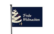 Design Fahne Flagge Weihnachtsbaum Nachtblau 150x100cm