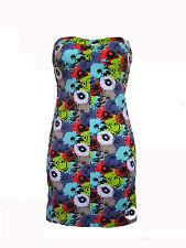 BRAND NEW VOLCOM WOMENS STRAPLESS DRESS SUMMER SUN GOWN TUBE TOP STRETCH SZ L