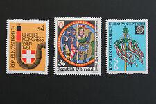 AUTRICHE timbre - Yvert et Tellier n°1498 à 1500 n** stamp Austria (cyn5)