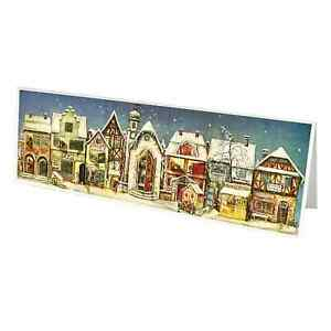 Little Town Advent Calendar  - Panoramic Christmas Count Down - Small Size