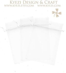 """2""""x3"""" Sheer Drawstring Organza Bags Jewelry Pouches Wedding Party Favor Gift Bag"""