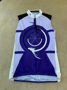 Sugoi Womens Sleeveless Cycling Jersey Size Small Purple
