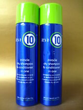 IT'S A 10 MIRACLE DRY SHAMPOO & CONDITIONER IN ONE 6 OZ PACK OF 2 see pictures