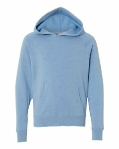 PRM15YSB Independent Trading Co Youth Special Blend Raglan Hooded Sweatshirt