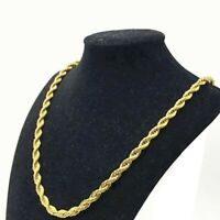 """18K Solid Gold Rope Chain Necklace Men Women 16"""" 18"""" 20"""" 22"""" 24"""" 26"""" 28"""" 30"""