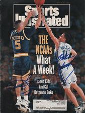 Bobby Hurley Duke & Jason Kidd Basketball SIGNED 3/29/93 Sports Illustrated COA!