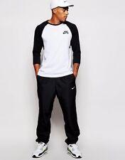 Nike BLACK Cuffed Track-pants Men Black Pants Lose Fit Running Basketball Medium