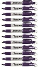 Purple / Valley Girl Violet Mini Sharpies - Set of 12 - With Cap Clip Keychain