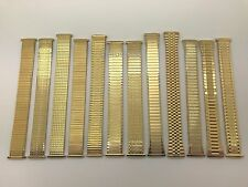 16mm 18mm 20mm 22mm Gold Stainless Steel Stretch Expansion Watch Band Mens MS