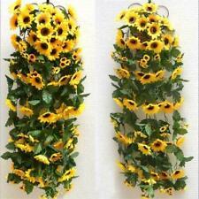 Artificial Yellow Sunflower Garland Flower Vine Wedding Floral Arch Silk Sell