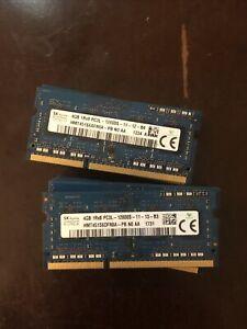 Lot Of 12x SK HYNIX 4GB 1Rx8 + 2GB 1Rx16 PC3L - 12800S LAPTOP MEMORY RAM