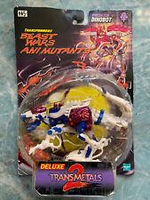 New 1999 Transformers Beast Wars deluxe transmetals 2 MOC Predator Dinobot