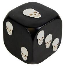 Nuevo Gigante dice con muerte 8cm Die Ornamento Negro Con Blanco Calaveras d0691b4 NEM