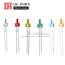 300Pcs 6Lights 2mm Flat Top Diffused LED Diodes White Red Blue Green Mix Kits
