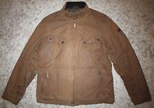 Barbour INTERNATIONAL VALVE Waxed Jacket in Tan - Medium [4161]