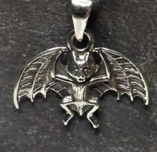 Sterling Silver Flying Bat Pendant.