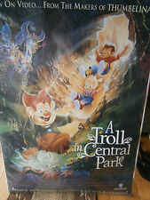 Authentic Movie Poster 1994 Animated A Troll In Central Park Family Warner