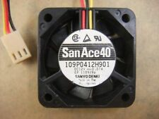 SANYO 109P0412H901 4010 40mm x10mm Fan 12V  0.07A 3Pin  462