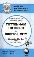 1970/71 Tottenham Hotspur v Bristol City, League Cup Semi Final, PERFECT