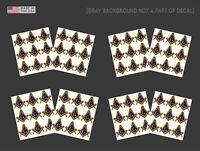 PunCSwht CHOOSE SIZE Military WHITE rt466 Punisher Skull  Decal Sticker