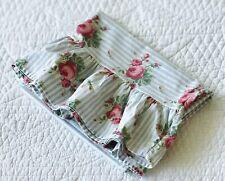 Ralph Lauren Home Emma Ruffle Std Pillowcase Blue Stripe Roses ~ EUC Cottage