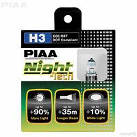 HE-821 PIAA H3 NIGHT TECH +90% BRIGHTER FOGLIGHT BULBS 12V 55W H3 (x2) ECE DOT